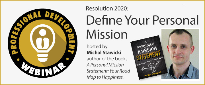 Define Your Personal Mission webinar
